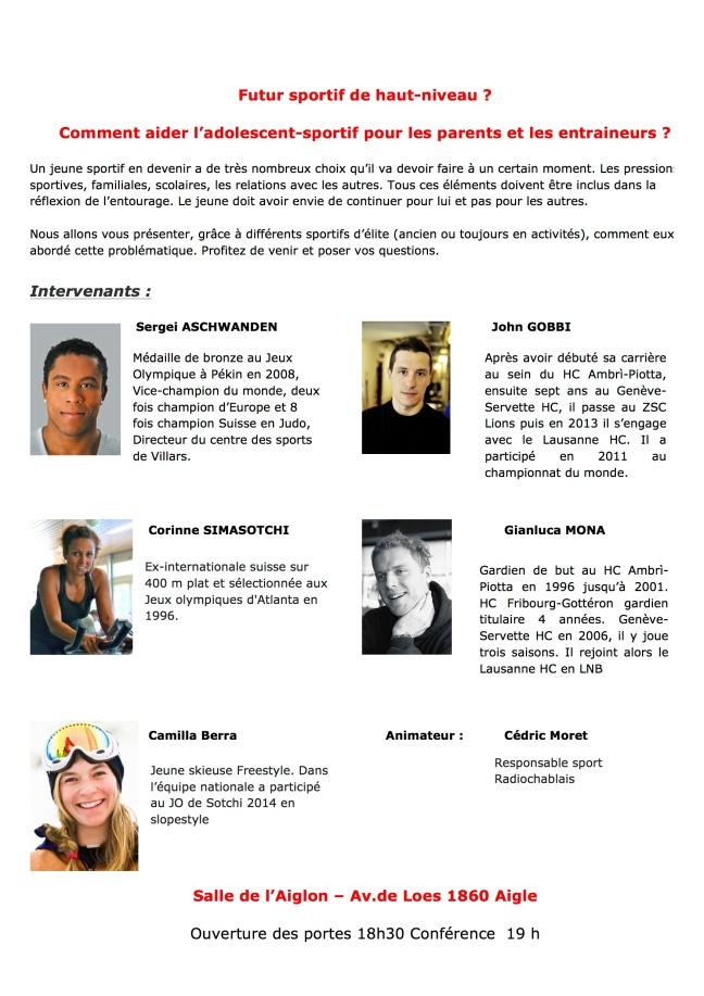Flyers Conférence sport_2